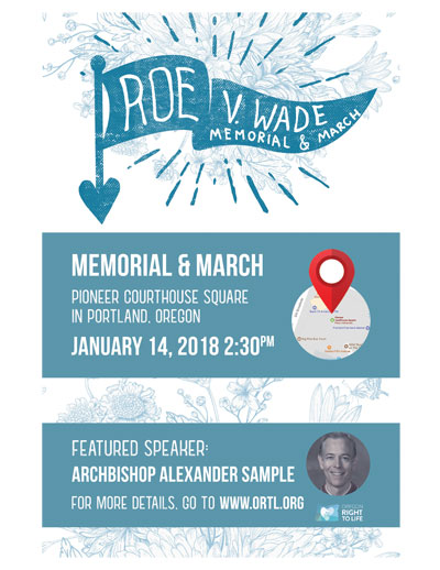 Roe V Wade memorial 2018 Archbishop Sample